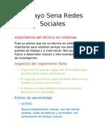 Ensayo Sena Redes Sociales