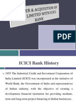 Merger & Acquisition of ICICI With ICICI Bank