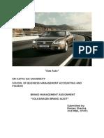 brandassignment on volkswagen brand audit