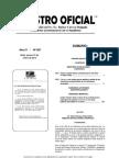 Registro Oficial Tablas Sectoriales 2013
