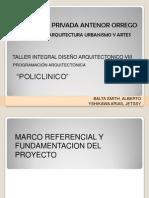Programacion Arq. Policlinico Yetsy Balta