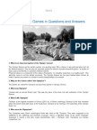 The Olympic Games in Questions and Answers
