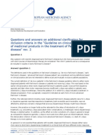 Questions and Answers on Parkinsons Disease