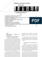 PENSAMIENTO FILOSÓFICO ANTIGUO ANTOLOGIA Historia del Pensamiento Filosófico y Científico Giovanni Reale y Dario Antisieri