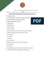 CUESTIONARIO DE MEDIACIÓN Y RESOLUCIÓN DE CONFLICTOS (1)