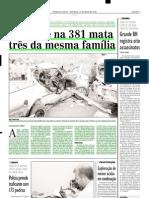 2002.05.12 - Acidente na 381 mata três da mesma família - Estado de Minas