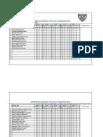 Registro de Asistencia 2013