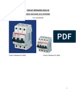 Circuit Breakers in Low Voltage Systems