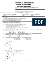 Matematika UAS ganjil 2012