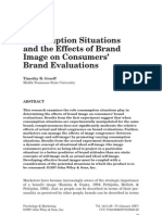 (Sici)1520-6793(199701)14!1!49__aid-Mar4_3.0.Co;2-o] Timothy R. Graeff -- Consumption Situations and the Effects of Brand Image on Consumers' Brand Evaluations