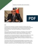 10-04-13 Sube tensión entre Venezuela y El Salvador antes de elecciones