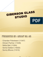 Case Study on Giberson Glass Studio