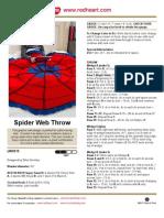 Spider Web Crochet Throw