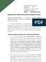 Apelacion de Sentencia Dulia Aguilar