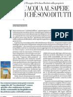 Proprietà e beni comuni nel nuovo saggio di Stefano Rodotà - La Repubblica 12.04.2013