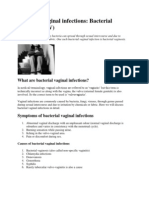 Bacterial Vaginal Infections- Bacterial Vaginosis (BV)
