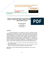 A Study on Effectiveness of Cause Related Marketing [Crm] Strategic Philanthropy