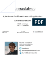 A platform to build real time social applications