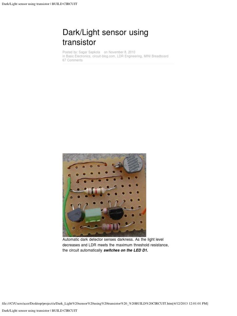 Dark_Light Sensor Using Transistor _ BUILD CIRCUIT