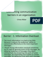Overcoming Communication Barriers in an Organization