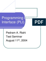 ProgrammingLanguageInterface(PLI)