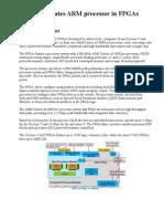 Altera Integrates ARM Processor in FPGAs