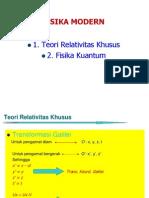 Relatifitas Khusus & kuantum