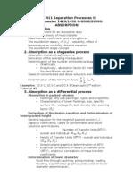 Che 411 Absorption- Handouts