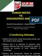 Human Need vs Endangered Animals Presentation
