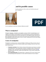 Constipation and Its Possible Causes