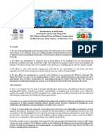 Youth Declaration-International Year of Water Cooperation 2013
