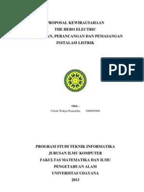 Proposal Kewirausahaan Pdf