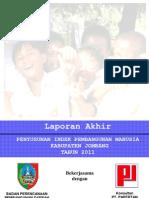 IPM Kabupaten Jombang 2011
