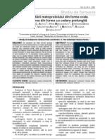 Studiul Cedarii Metoprololului Din Forme Orale. II. Eliberarea Din Forme Cu Cedare Prelungita