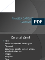 Analiza Datelor Calitative. FS