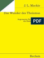 Mackie John L Das Wunder Des Theismus Philosophie