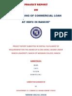 Project Report HDFC Loan