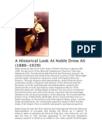 A Historical Look at Noble Drew Ali