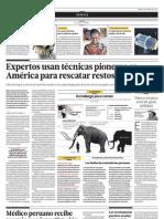 Expertos usan técnicas pioneras en America para rescatar restos de mamut