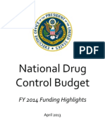 Fy 2014 Drug Control Budget Highlights 3