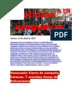 Noticias Uruguayas Viernes 12 de Abril Del 2013