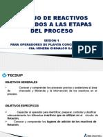 MANEJO DE REACTIVOS SESION 1 Chancado-Molienda.pptx