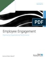 Employee Engagement Maximizing Organizational Performance