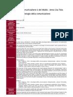 TOTA - Sociologia Della Comunicazione
