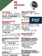 Planning - Formations Avril Juillet 2013 - Epn Microlithe 75020