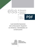 La Transformacion de La Educacion Superior en America Latina