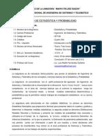 Syllabus de Estadisticay Probabilidad de Ing. Sistemas -1