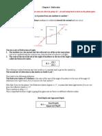 IGCSE Physics Refraction experiment