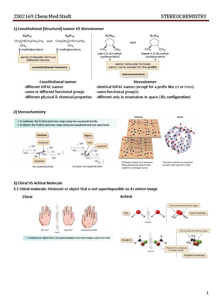 01-Stereochemistry | Chirality (Chemistry) | Isomer