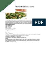 Salată de fasole verde cu mozzarella